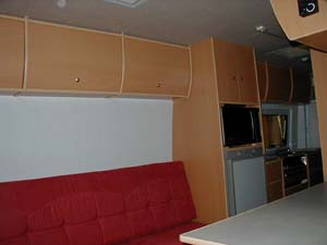 Sprinter seating area