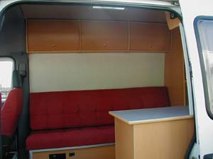 Sprinter side load door view
