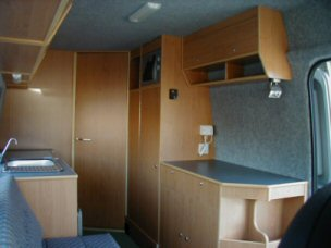 Sprinter conversion - back corner view